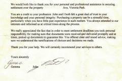 Personalised Settlements review feedback testimonial settlement agent perth 21